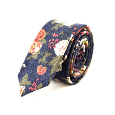 Blue Floral tie - Punk Monsieur