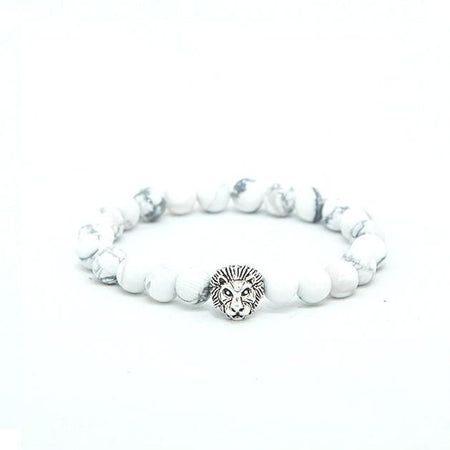 white lion beaded bracelet - Punk Monsieur