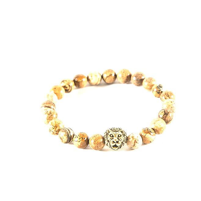 Light brown lion Bracelet - Punk Monsieur