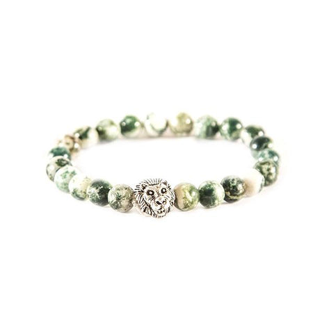 Green lion bracelet - Punk Monsieur