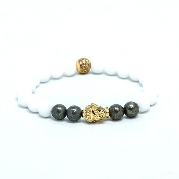White and Gold bracelet - Punk Monsieur