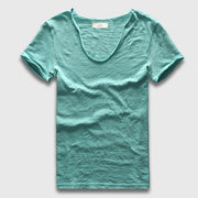 Cascade V neck cotton T-Shirt