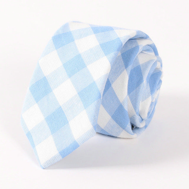 Plaid stripe neck tie