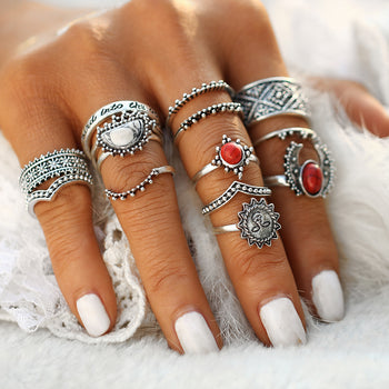 Bohemian Rings Set for Women