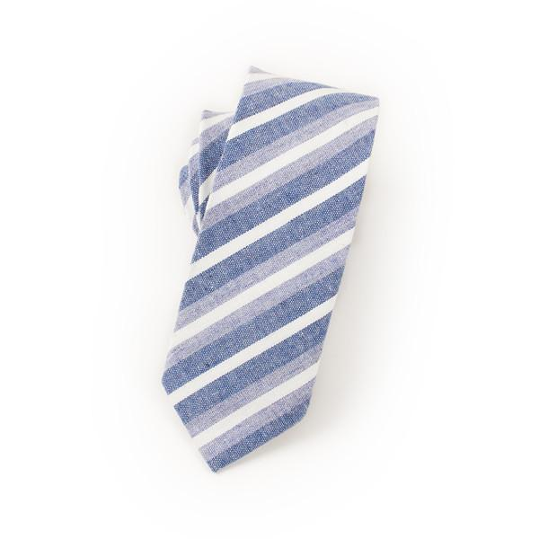Striped Sky Blue tie