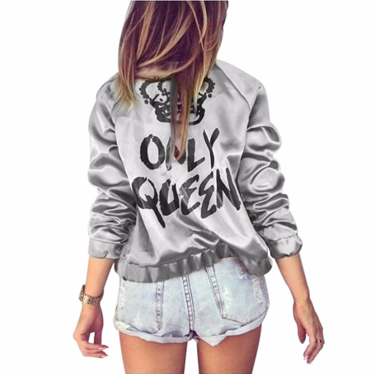 Women Print Bomber Jacket