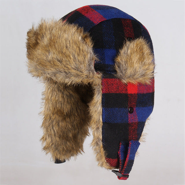 Russian Fur Aviator Winter Hat