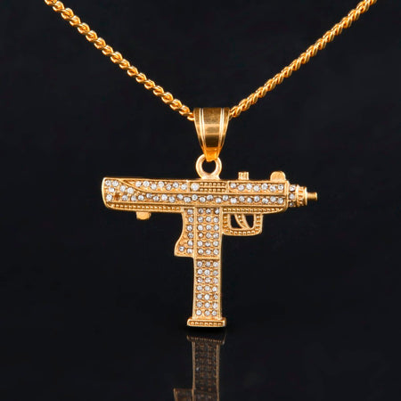 Hip Hop Gun Pendant Necklace