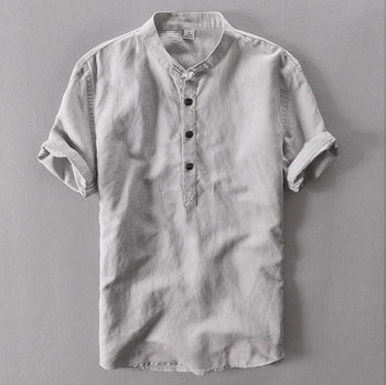 Grey Slim fit Collar Cotton Shirts