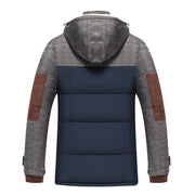 Patchwork hooded Jacket