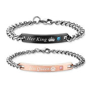2017 Her King His Queen Couple Bracelets