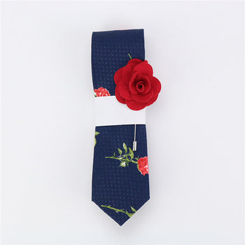 Cotton ties & Free lapel pin