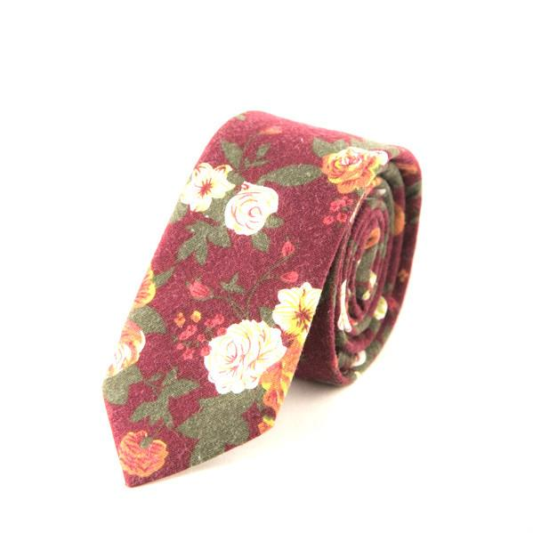 Red floral tie - Punk Monsieur