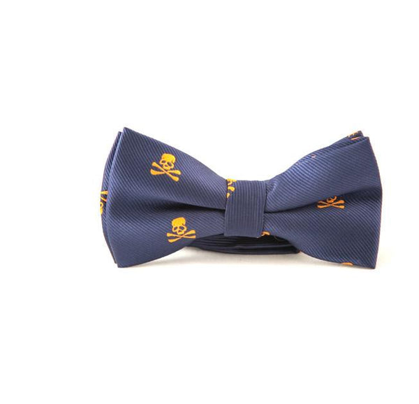 Orange skull bow ties - Punk Monsieur