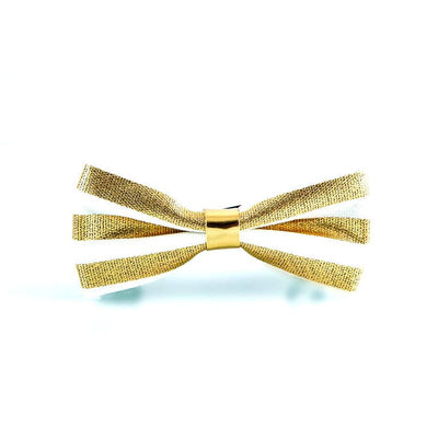 Gold Stripe Bow Tie - Punk Monsieur