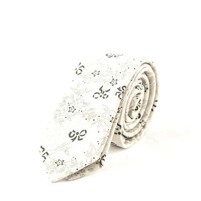 White Floral tie - Punk Monsieur