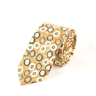 yellow floral tie - Punk Monsieur