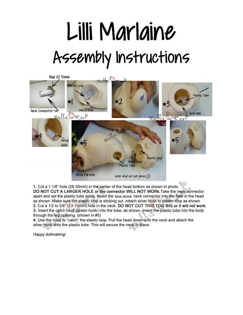 Lilli-Marlaine Assembly Instructions