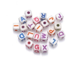 Tiny 5mm Square Alphabet Beads (104 pc) - Dolls so Real Inc