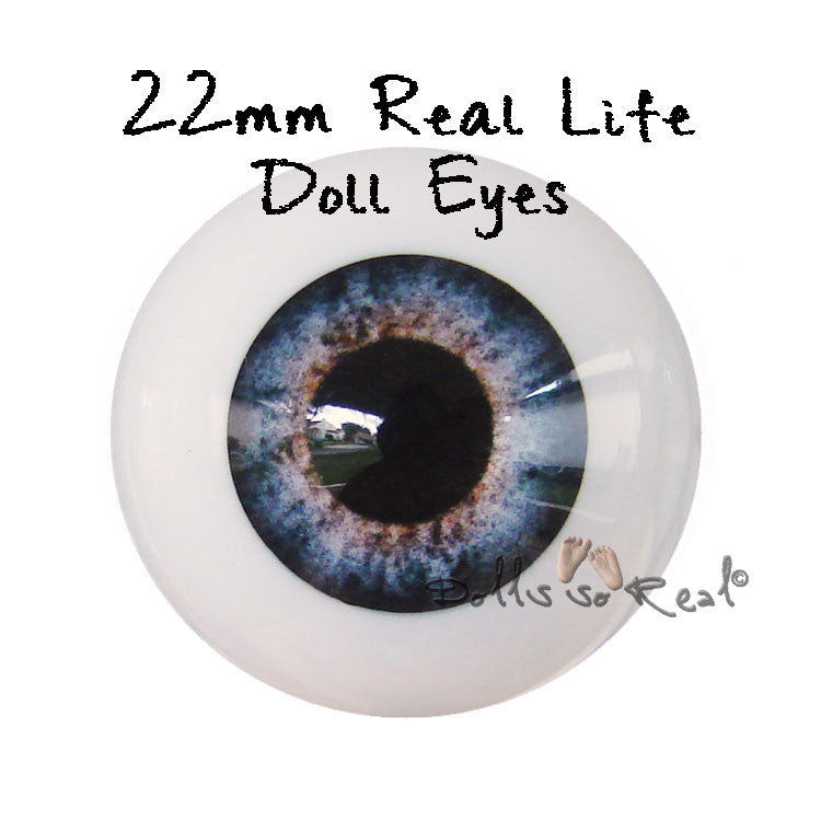 Real Life 22mm Doll Eyes - Dolls so Real Inc - 1