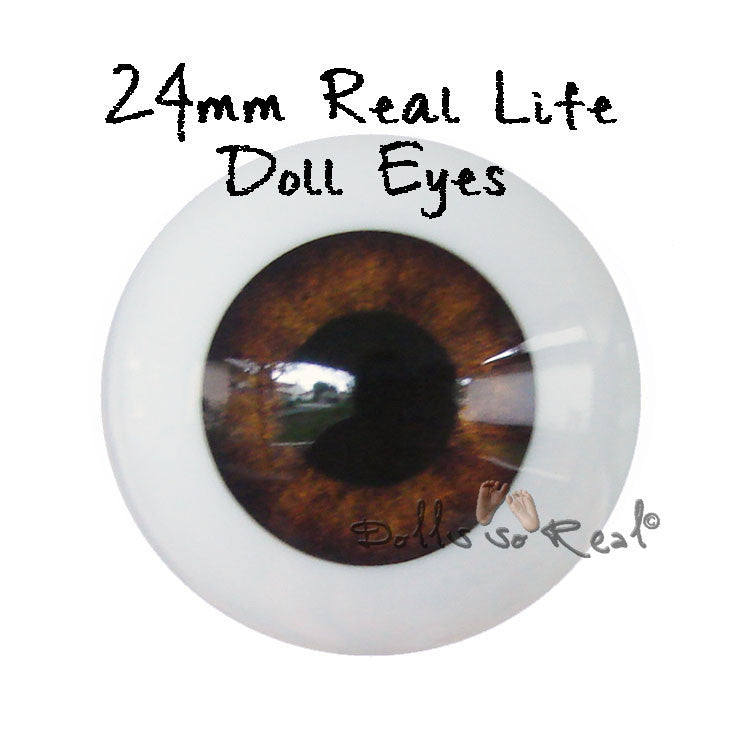 Real Life 24mm Doll Eyes - Dolls so Real Inc - 1