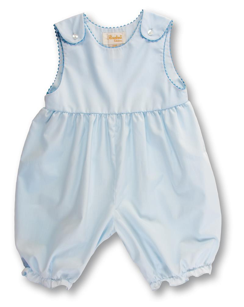 Rosalina Baby Baby Blue Sleeveless Knickers w/Ric Rac Trim - NB