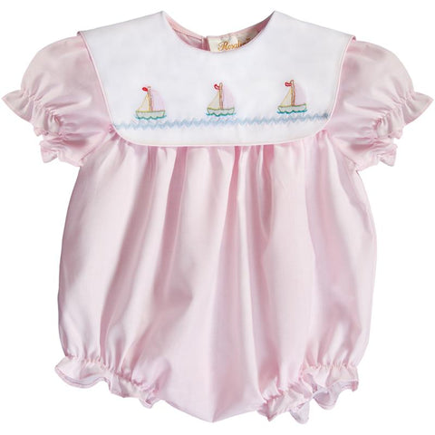 Rosalina Baby Pink Sailor Suit Bubble/Romper 0-3mths