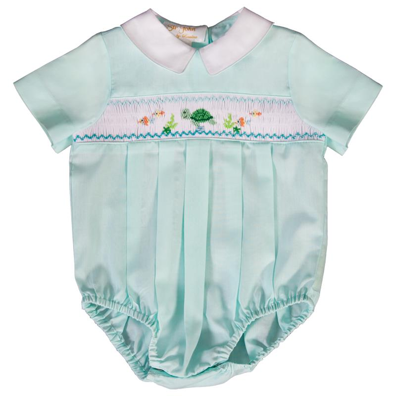 Rosalina Baby Turquoise Turtle & Friends Suit Bubble/Romper 0-3mths