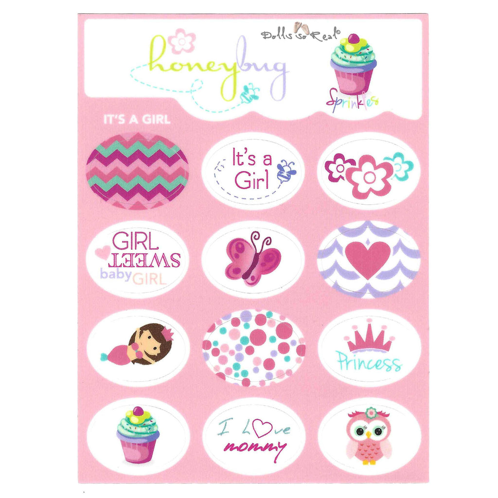 "Honeybug ""Sprinkles"" for Sweetheart Paci - Dolls so Real Inc - 9"