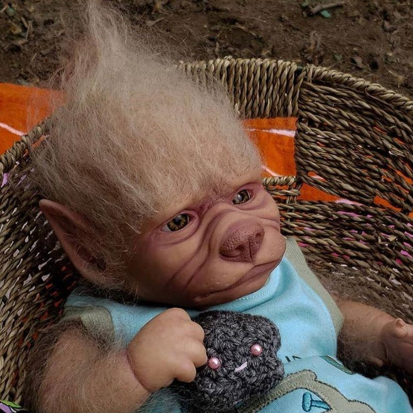 Robbie the Baby Werewolf- A Opened Eye Fantasy Doll Kit by Asia Eriksen