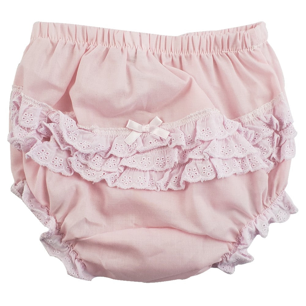 Baby Girl's Lace & Ruffles Pants/Diaper Cover