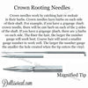 CROWN - 46g 6b (46g6b) Crown Rooting Needles - 10 pack