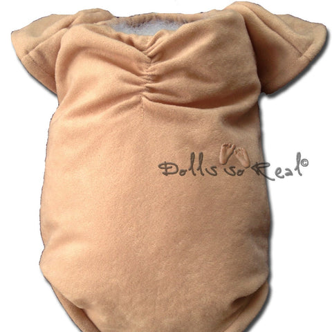 "Suede Body Slip with Gathered Tush & Chest w/ 3/4 arms-full legs 21-22"" - Dolls so Real Inc - 2"