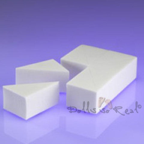 Latex Free Cosmetic Wedge Sponge Block 8-pc - Dolls so Real Inc