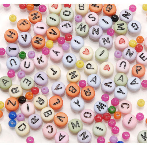 Alphabet Bead Kit - Pastel Mixed  300 pc