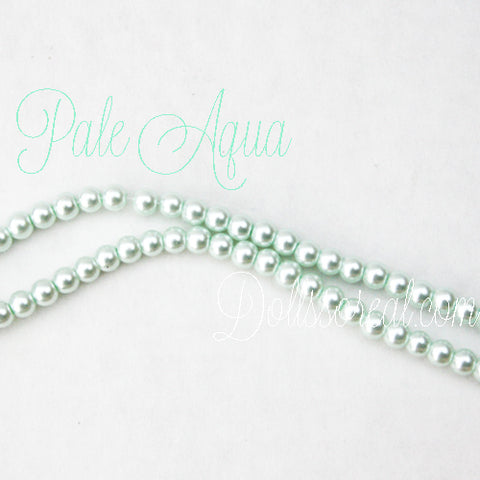 "4mm Glass Pearl Strand 12"" (30.48cm) Long"