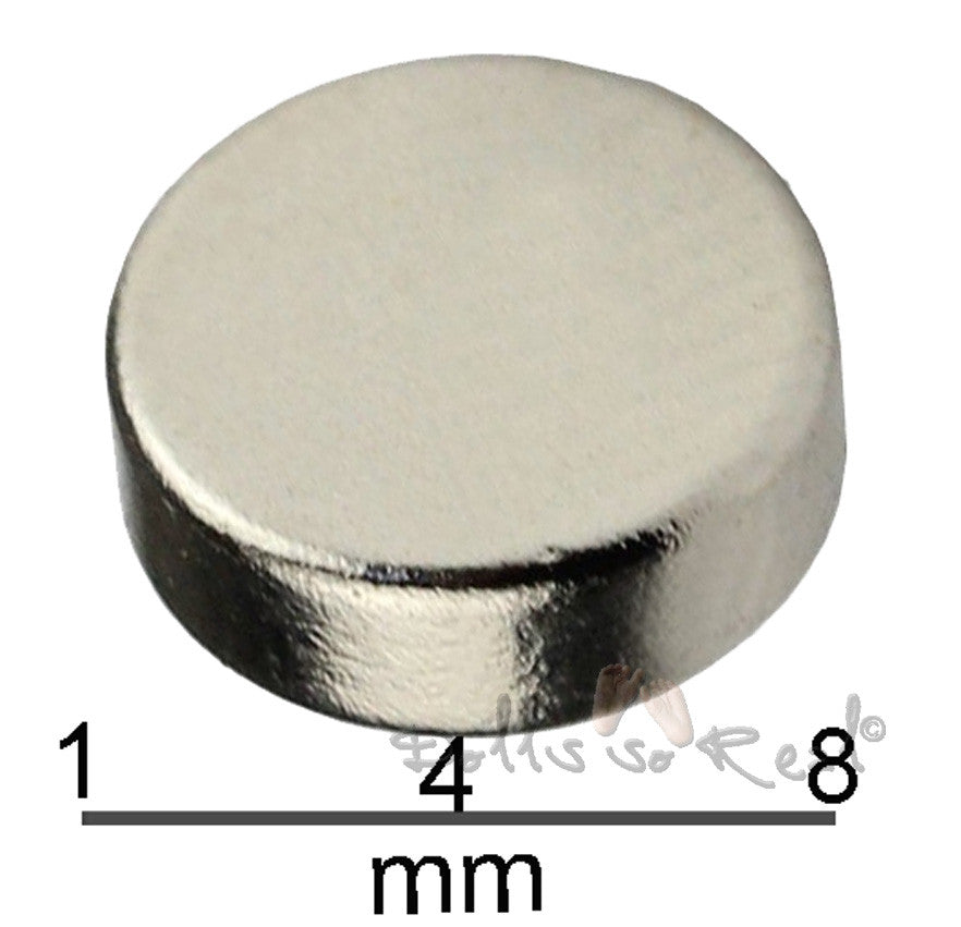 "5 pack Neodymium Rare Earth Magnets 8mm (5/16"") - Dolls so Real Inc - 2"