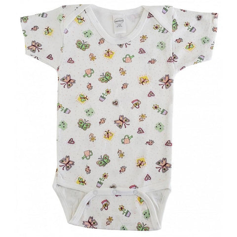 Butterfly Print Classic Snap Onsie - Newborn