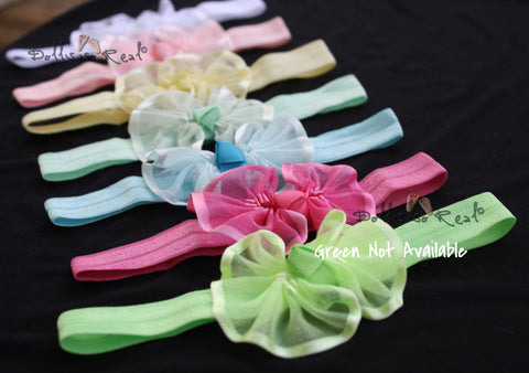 Colorful Organza Bow Headbands