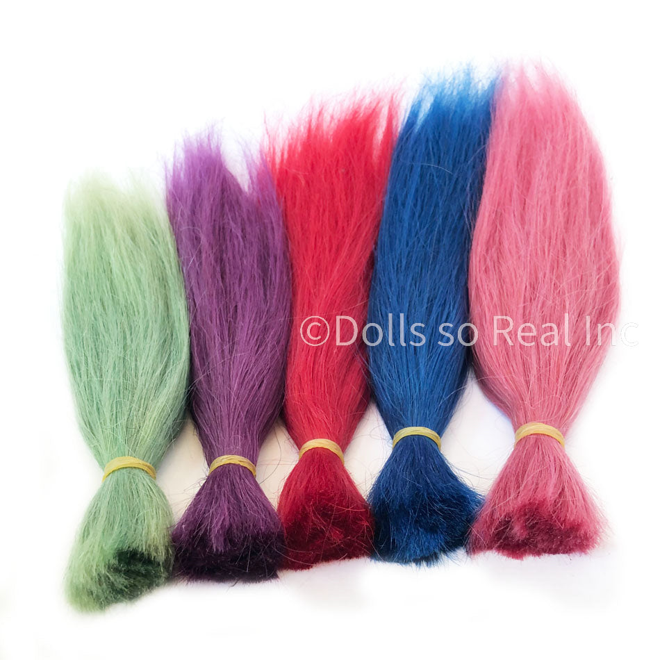Fantasy Colored Straight Human Hair - 25g