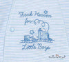 "Little Me ""Thank Heaven for Little Boys"" Footie & Blanket Set - NB"