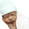 Hospital Cap/Hat in Ivory- Newborn