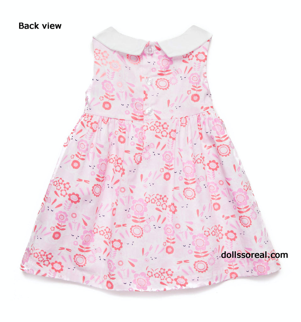 Peter Pan Collar Printed Dress by Nursery Rhyme -12 mths
