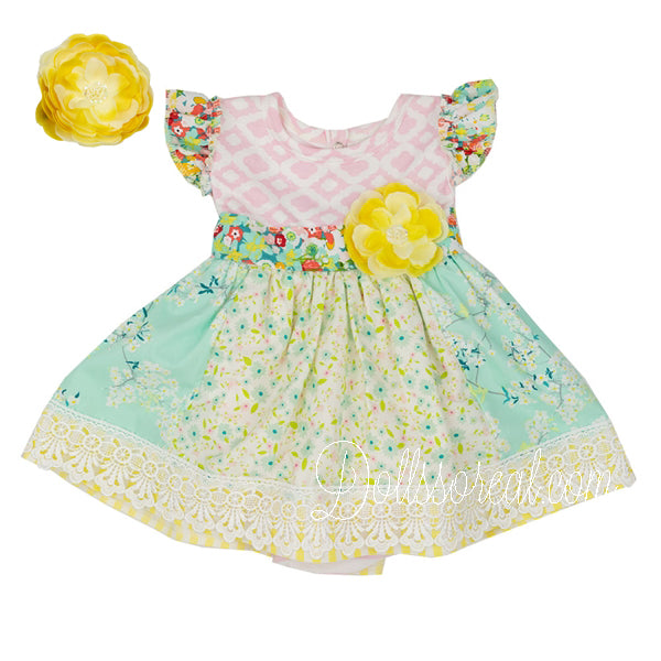 af0f11c5f9e9 Spring-a-Ling Infant Baby Girls Dress by Haute Baby - 0-3 Months – Dolls so  Real Inc