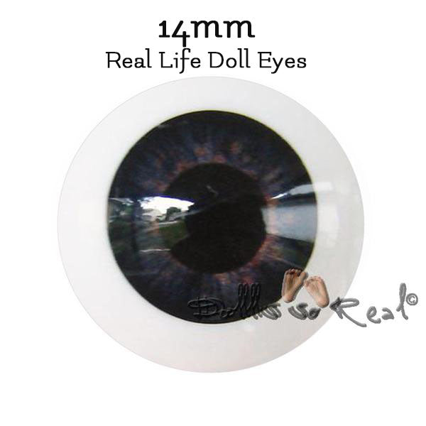 New Size! Dolls So Real Life 14mm Doll Eyes