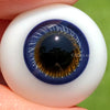 18mm 1/2 Round Flat Back German Glass Eyes