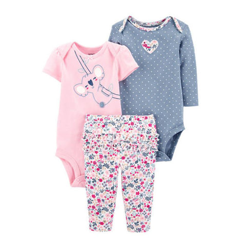 Carter's Baby Girls 3 Piece Koala Little Character Set - Newborn