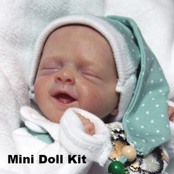 "Salia- A Miniature 12"" Closed Eyed Doll Kit by Olga Auer"