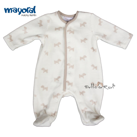 Mayoral NB Baby Boy Soft Plush Puppy Print Sleeper