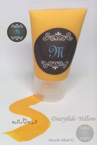 Diarylide Yellow - Miracle Blend Premium Air Dry Paint - 1oz Tube